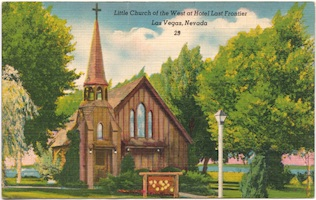 Little Church of the West - vintage postcard